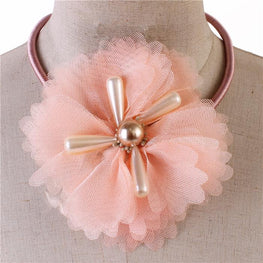 Peach Flower Choker