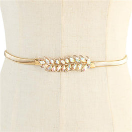 Gold Omega Leaves Stretch Belt