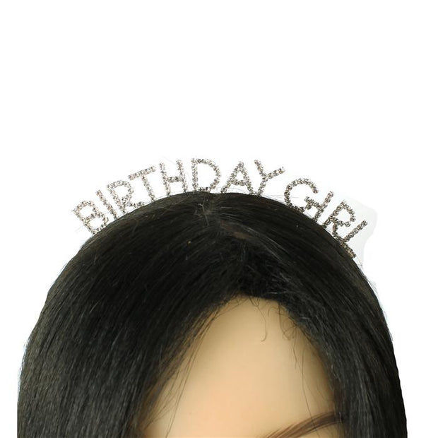 Silver Birthday Girl Headband