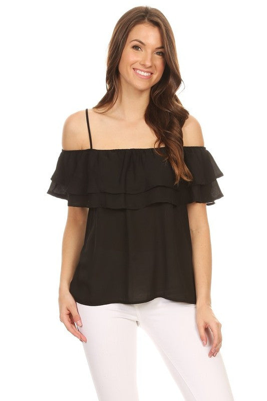 Black Marissa Top
