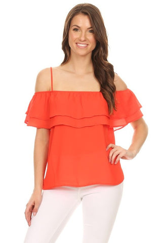 Red Marissa Top