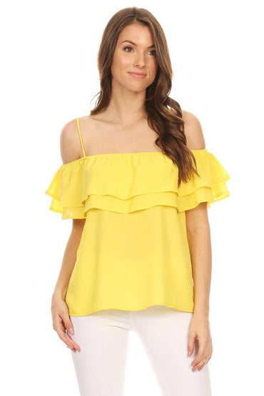 Yellow Marissa Top