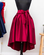 Burgundy High Low Skirt