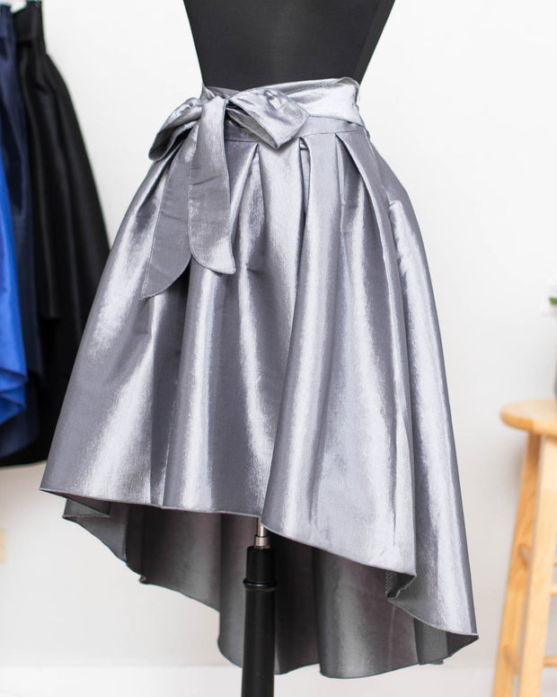 Gray High Low Skirt
