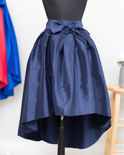 Navy High Low Skirt
