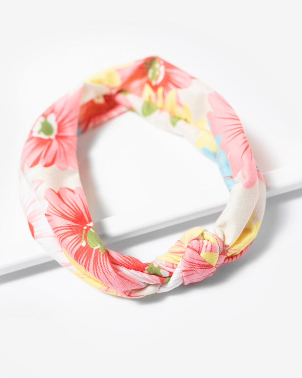 Pink Tropical Knot Headband