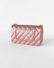 Rose Gold Quilted Jelly Purse