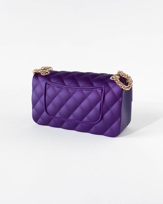 Purple Quilted Jelly Purse
