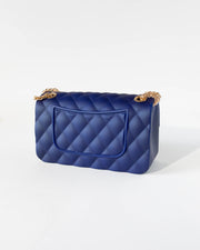 Navy Blue Quilted Jelly Purse