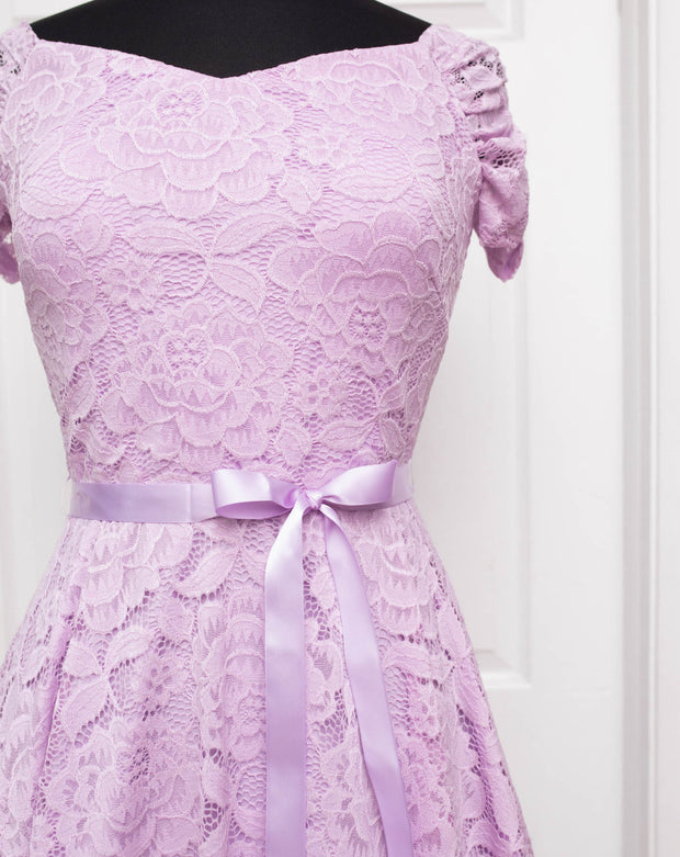 Lilac Paisley Plus Dress