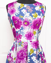 Purple Daisy Plus Dress