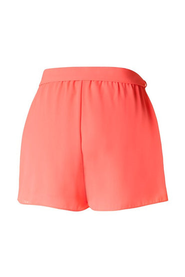 Neon Coral Shorts