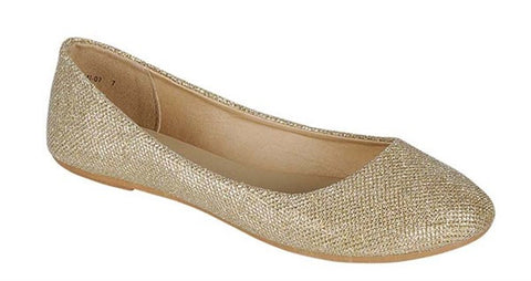 Champagne Sparkle Flats