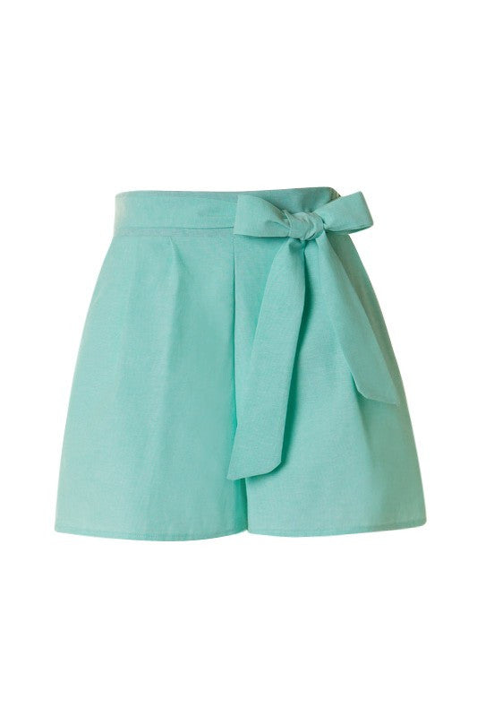 Mint Cotton Shorts