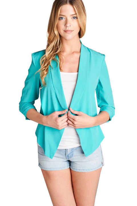 Mint Open Blazer