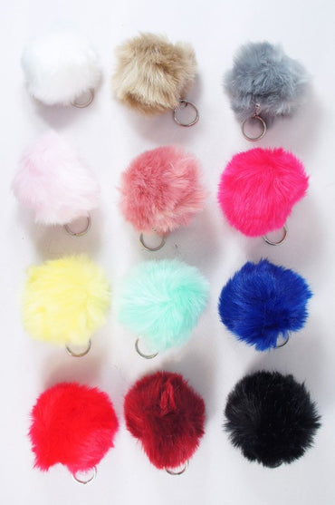 Mini Pom Pom Key Ring