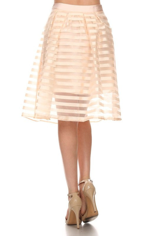 Champagne Striped Skirt