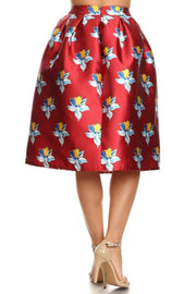 Retro Tulip Midi Skirt