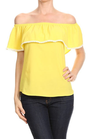 Yellow Daniela Top