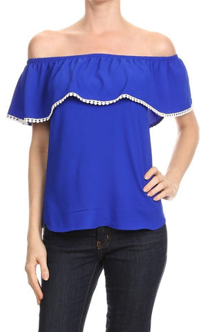 Royal Blue Daniela Top