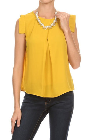 Mustard Capped Blouse