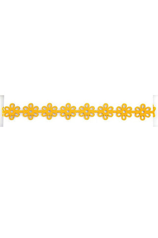 Yellow Cut Out Choker