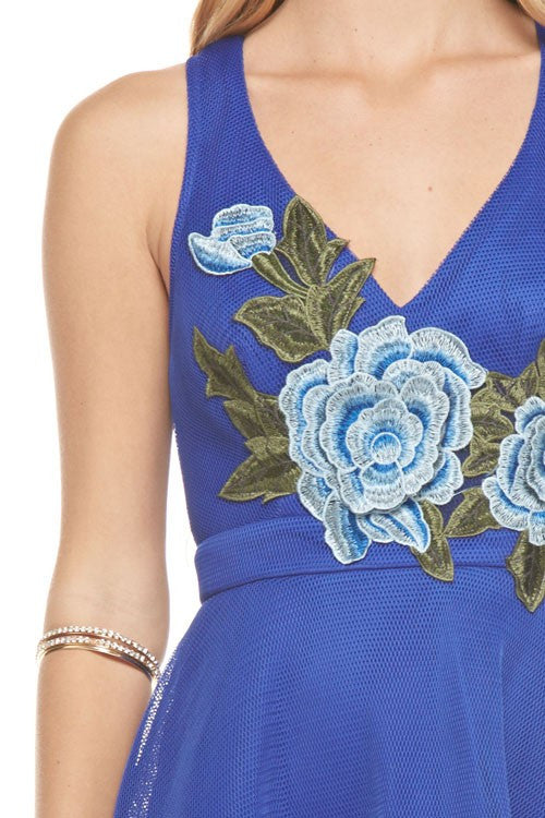 Royal Embroidery Patched Dress
