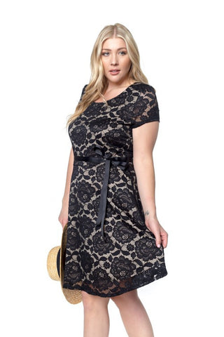 Black Ania Plus Dress