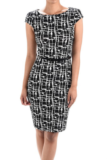 Isa Abstract Plus Dress