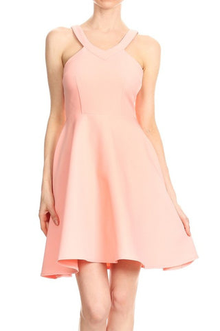 Peach Manda Dress