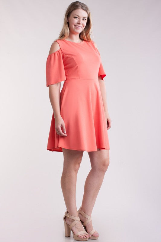 Coral Tatum Plus Dress