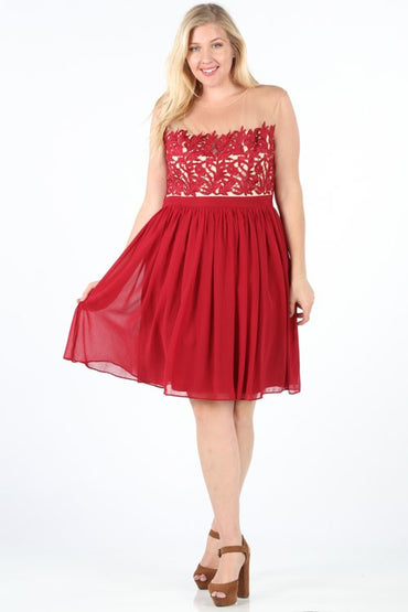Cranberry Emersyn Plus Dress