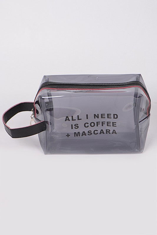 Coffee + Mascara Cosmetic Pouch