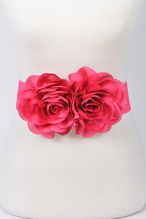Flower Belt - Fuchsia