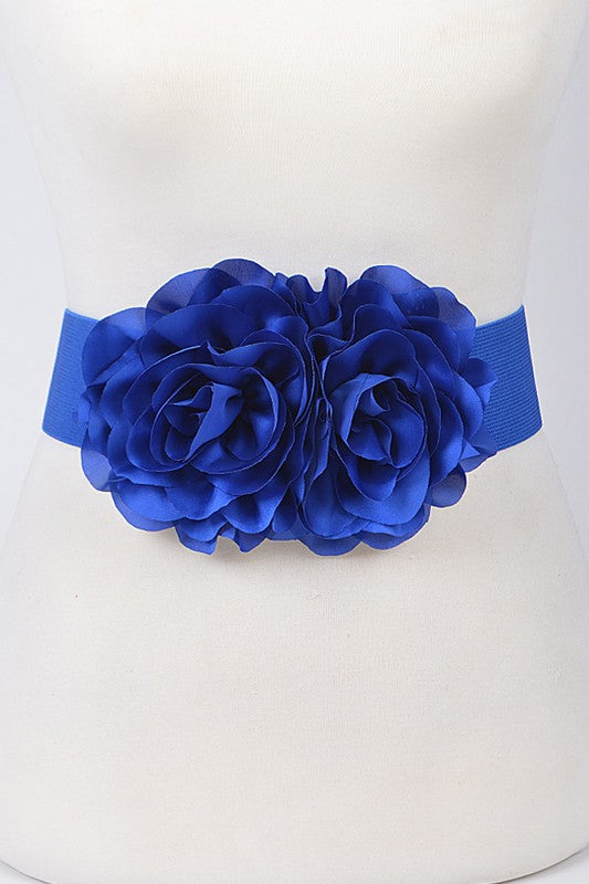 Flower Belt - Cobalt