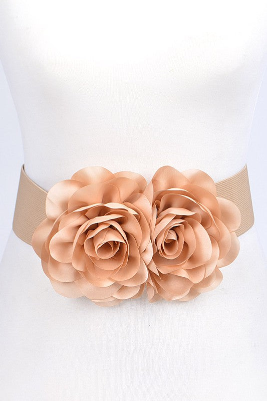 Flower Belt - Tan