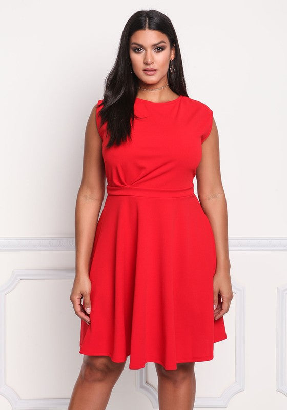 Red Aria Plus Dress