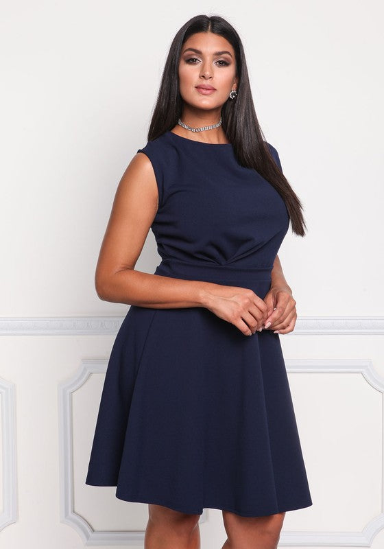 Navy Aria Plus Dress