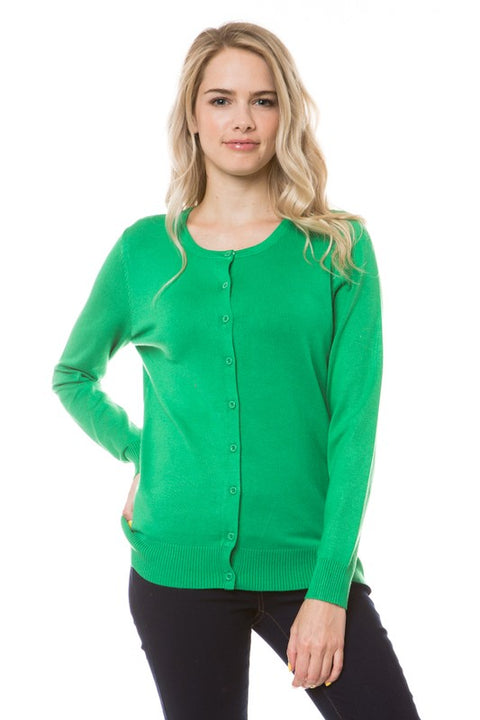 Apple Green Cardigan