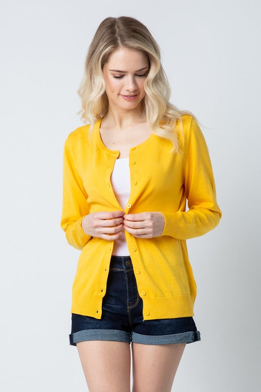 Bright Yellow Cardigan