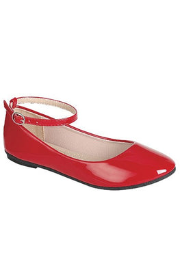 Red Patent Ankle Flat