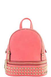 Coral Studded Mini Backpack