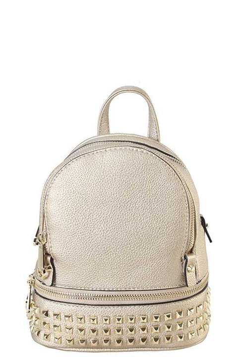 Gold Studded Mini Backpack