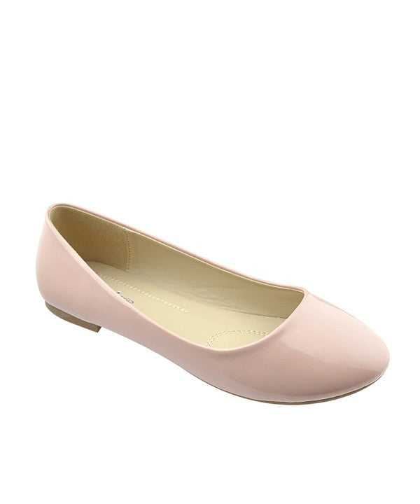 Dusty Rose Patent Flat
