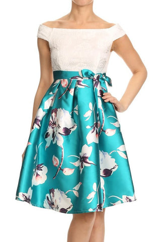 Teal Tianna Dress