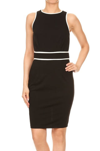Black Geneva Contrast Dress