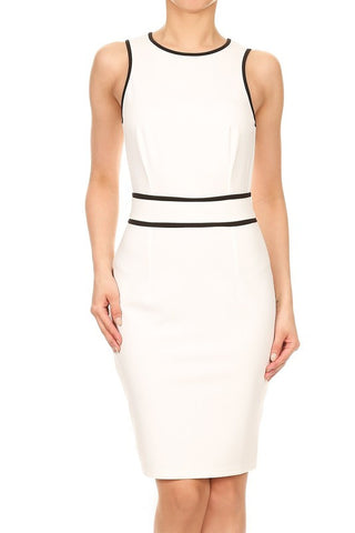 White Geneva Contrast Dress