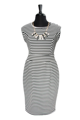 Black & White Stripe Illusion Dress