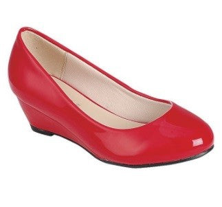 Red Patent Wedge