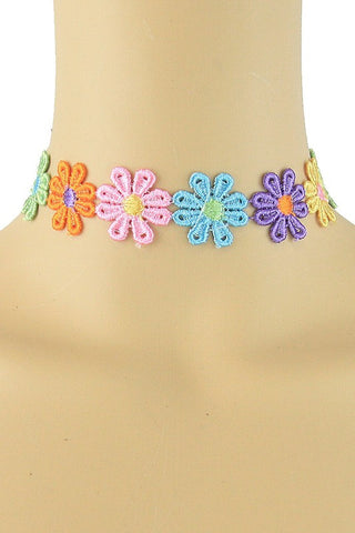 Multi Flower Choker